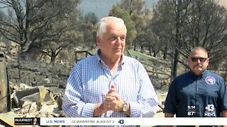 Governors visit wildfires in NV/California