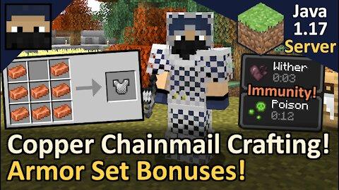 Copper Chainmail + Armor Set Bonuses! Tyruswoo Server! Minecraft Java 1.17