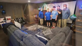 Sussex teen gets surprised with new game room thanks to Make-A-Wish, Bucks