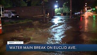 Crews working to repair water main break on Euclid Avenue in Euclid