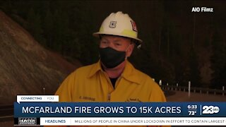 McFarland Fire grows to 15K acres