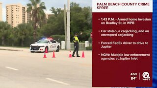 Fed Ex driver forced to drive to Jupiter after West Palm Beach crime spree