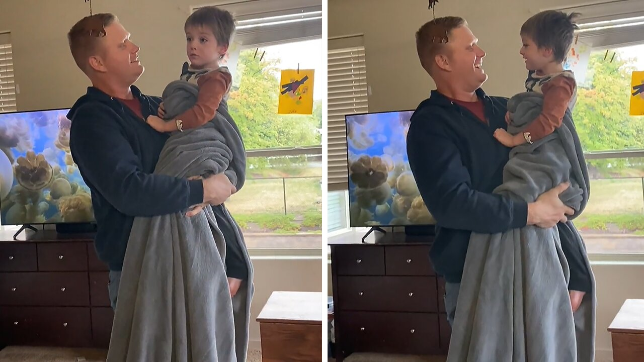 Uncle surprises nephew after being away in the military