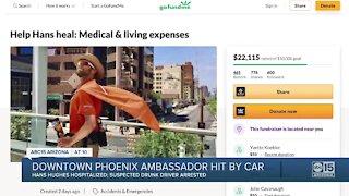 Downtown Phoenix ambassador hit by car