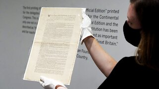 Sotheby's Puts Rare U.S. Constitution Copy Up For Auction