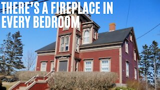 This $209k Nova Scotia House Has A Huge Tower & Is Over A Century Old