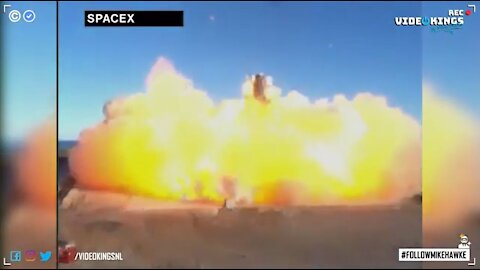 SpaceX prototype Starship rocket SN8 just exploded after landing failure.