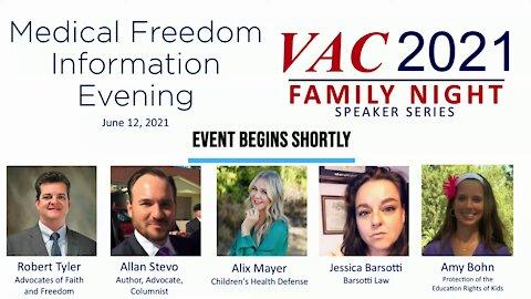Medical Freedom Information, Calvary Chapel, San Jose, July 24, 2021