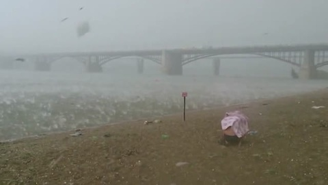 This Hailstorm Caught Beachgoers In Russia By Complete Surprise
