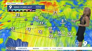 Gusty and cooler air approaching
