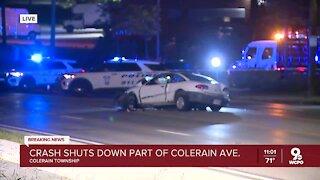 Crash shuts down part of Colerain Ave.