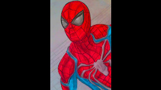 Drawing Spider-Man