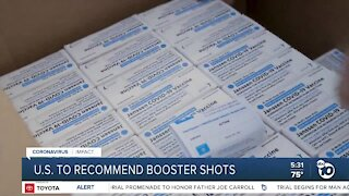 US expected to recommend COVID-19 vaccine booster shots