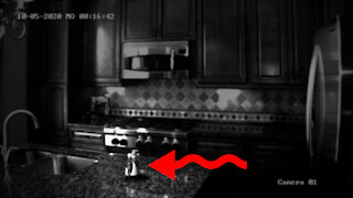 Real ghost poltergeist caught on CCTV footage?
