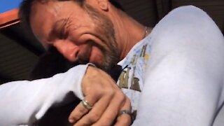 Dad's Emotional Reaction to German Shepherd Puppy Surprise