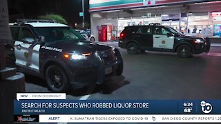 Police search for suspects in armed robbery of PB liquor store