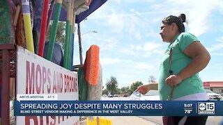 Blind street vendor uplifting west Phoenix with his attitude