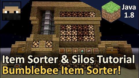 Bumblebee Item Sorter and Silos! Redstone Tutorial! Minecraft Java 1.8