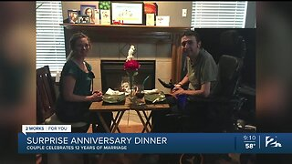 10-year-old surprises parents for special anniversary dinner