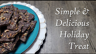 Christmas Bark ~ Simple & Delicious Treat ~ Brickle