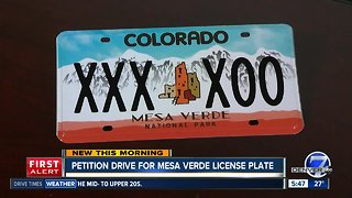 Petition drive for Mesa Verde license plate
