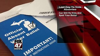 Last day to vote absentee