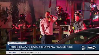 House fire displaces three people