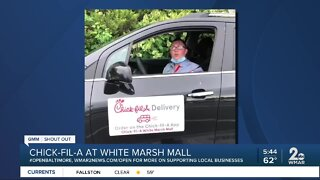 """Chick-fil-A White Marsh Mall says """"We're Open Baltimore!"""""""