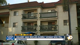 Water delivery man saves elderly Escondido woman after fall