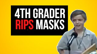 10 Year Old RIPS Mask Mandates At Emergency School Board Meeting