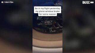 Alarmed plane passenger notices cracked window during flight