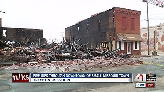 Fire tears through downtown Trenton, damaging businesses