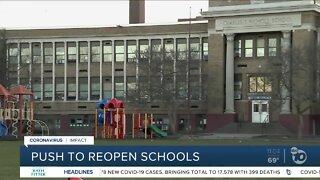 Push to reopen schools