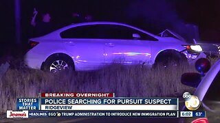 Driver leads San Diego police on chase, ditches car after crash