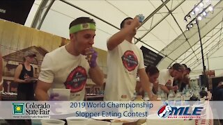 Slopper eating contest at Colorado State Fair