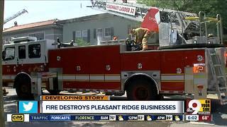 Fire destroys Pleasant Ridge business
