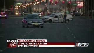 Deadly crash near Lake Mead and Lamb