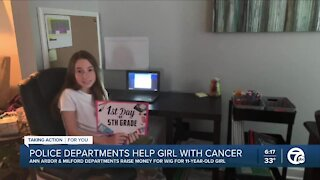 Local police departments raise money for child with cancer