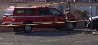 Investigators work into the night after Nellis aircraft crashes in Las Vegas neighborhood