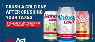 Natty Light giving free beer if you file taxes