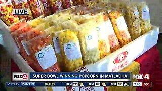 Noelani tries Super Bowl popcorn