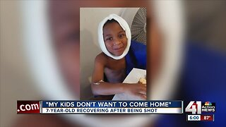 7-year-old recovering after being shot