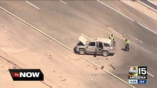 Two people killed after semi-truck in Chandler crashes into multiple cars, catches fire