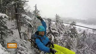 The Great Outdoors: Winter Zip Lining