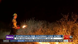 Stagecoach fire continues Wednesday morning