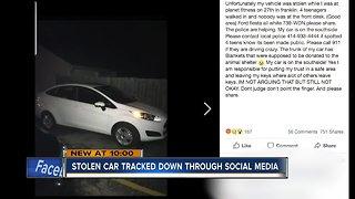Social media helps track down stolen car in Milwaukee