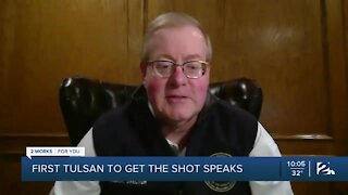 First Tulsan to get COVID-19 vaccine speaks