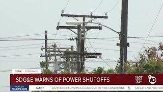 SDG&E warns of power shutoffs