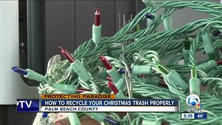 Advice on properly recycling your Christmas lights and old electronics