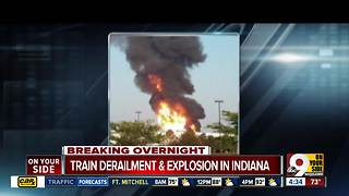 Indiana train derailment, fire forces mandatory evacuations